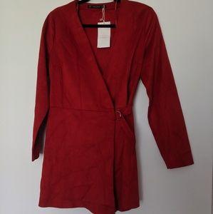Zara Red Romper (never before worn)